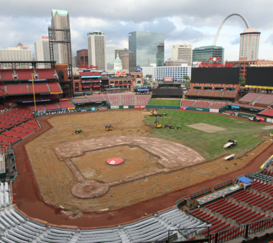 Insider look at New Surface at Busch Stadium in St. Louis