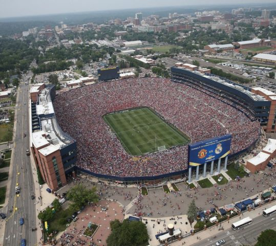 Man United/Real Madrid Match at Michigan Stadium Sets 109k+ Attendance Record