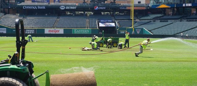 Crew Transforms Comerica Park Into Soccer Pitch