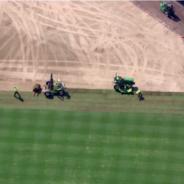 Crews Transform Comerica Park Into Soccer Stadium