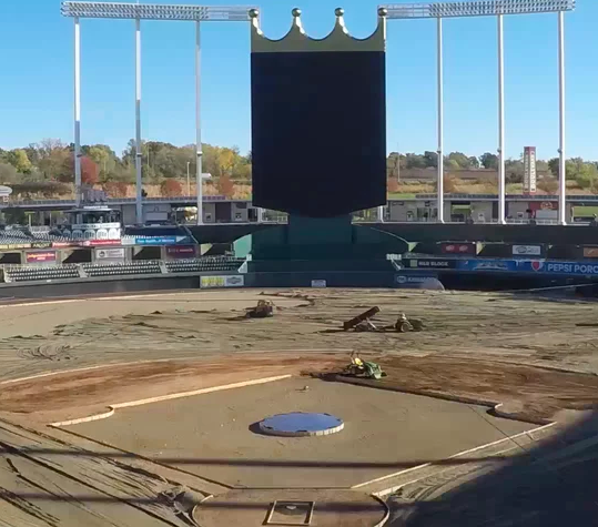 Watch Bush Turf's Renovation of Kauffman Stadium in 30 Seconds