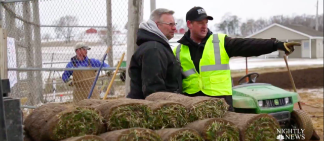 NBC Nightly News Features Bush Turf for Work on Field of Dreams